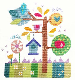 In The Garden Cross Stitch Kit By Stitching Shed