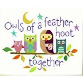 Owls Of A Feather Cross Stitch Kit By Stitching Shed