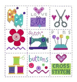 Sewing Sampler Cross Stitch Kit By Stitching Shed