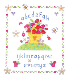 Strawberry Fayre Cross Stitch Kit By Stitching Shed