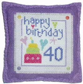 Birthday Cushion Cross Stitch Kit
