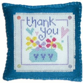 Thank You Cushion Cross Stitch Kit
