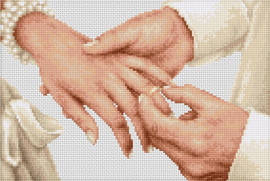 Forever Wedding Ring Cross Stitch Kit By Luca-S
