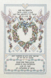 Two Wedding Doves Cross Stitch Kit By Janlynn