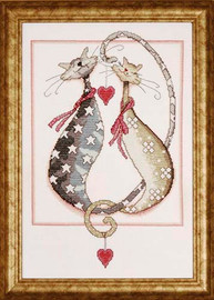 Purrfect Together Cross Stitch Kit By Design Works