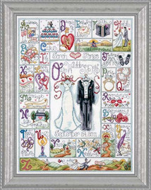 Wedding Abc Cross Stitch Kit By Design Works