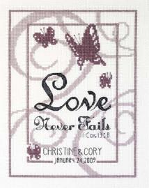Love Never Fails Cross Stitch Kit - Janlynn
