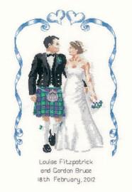 Scottish Wedding Cross Stitch Kit