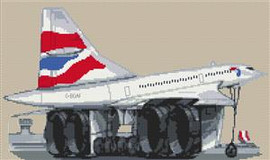 British Airways Concorde Cross Stitch Chart