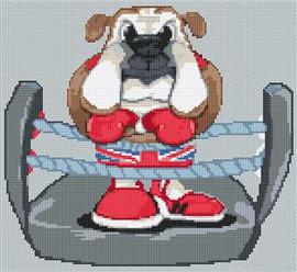 British Bulldog Caricature Cross Stitch Chart