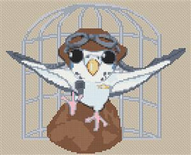 Budgie Caricature Cross Stitch Chart