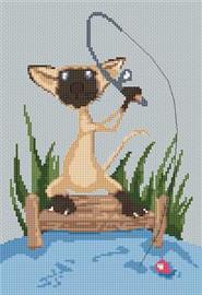 Siamese Cat Caricature Cross Stitch Chart