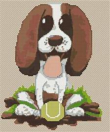Springer Spaniel Puppy Caricature Cross Stitch Chart