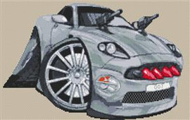 Aston Martin Vanquish Bond Cross Stitch Chart