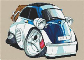 Bmw Bubble Car Cross Stitch Chart