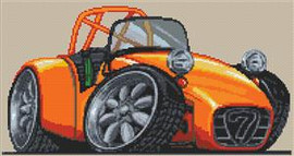 Caterham 7 Cross Stitch Chart