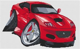 Ferrari Marinello Caricature Cross Stitch Chart