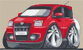 Fiat Panda Caricature Cross Stitch Chart