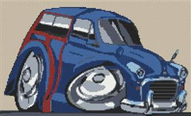 Morris Traveller Cross Stitch Chart