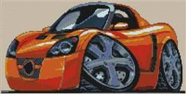 Opel Speedster Cross Stitch Chart