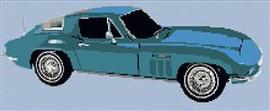 1963 Corvette Stingray Cross Stitch Chart