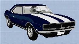1968 Ss Camero Coupe Cross Stitch Chart