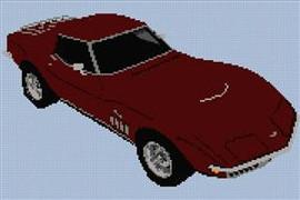 1969 Corvette Stingray Cross Stitch Chart