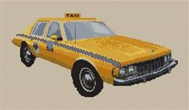 Chevrolet Caprice Ny Taxi Cross Stitch Chart