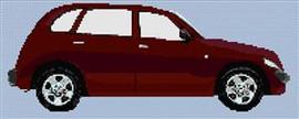 Chrysler Pt Cruiser Deep Red Cross Stitch Chart