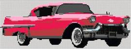Pink Cadillac Cross Stitch Chart
