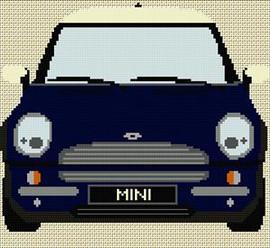 Bmw Mini Cross Stitch Chart