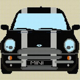 Bmw Mini Stripe Cross Stitch Chart