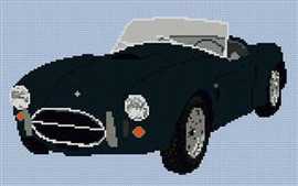 Ac Cobra Classic Car Cross Stitch