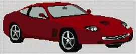 Red Ferrari Cross Stitch Chart