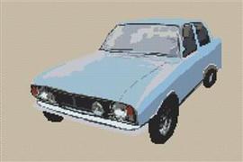Ford Cortina Mark 2 1600 E Cross Stitch Chart
