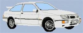 Ford Cosworth Car Cross Stitch Pattern