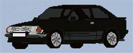 Ford Escort Rs Turbo Cross Stitch Chart