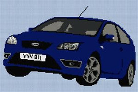Ford Focus St Cross Stitch Pattern