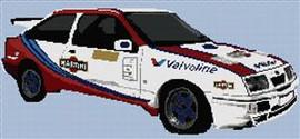 Ford Martini Rally Cosworth Cross Stitch Pattern Chart