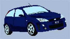 Ford Rs Focus Cross Stitch Pattern