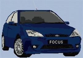 Ford St170 Focus Cross Stitch Pattern