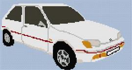 Ford Xr2 Fiesta Cross Stitch Pattern