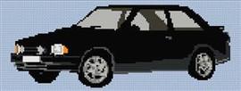 Ford Xr3 Escort Cross Stitch Pattern
