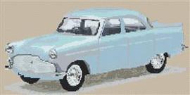 Ford Zephyr Cross Stitch Chart