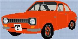 Mark 1 Ford Escort Cross Stitch Chart