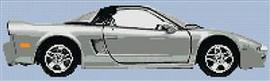 Honda Nsx 1991 Coupe Cross Stitch Chart