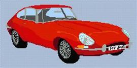 Jaguar E Type Fhc Cross Stitch Chart