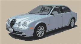 Jaguar S Type (2001) Cross Stitch Chart