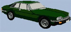 Jaguar Xjs Coupe Cross Stitch Chart