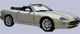 Jaguar Xk8 Roadster Cross Stitch Chart